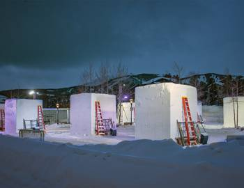 International Snow Sculptures in Breckenridge by Carl Scofield