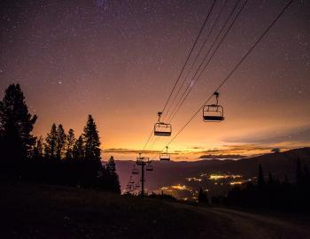 Gondola in Breckenridge at Night