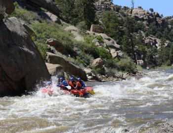 Rafting near Breckenridge