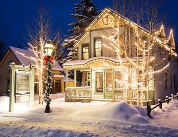 Great Western Lodging on Main Street in Breckenridge, Colorado Winter