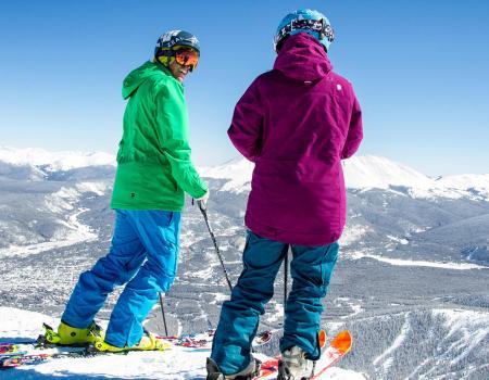 Skiers at Breckenridge