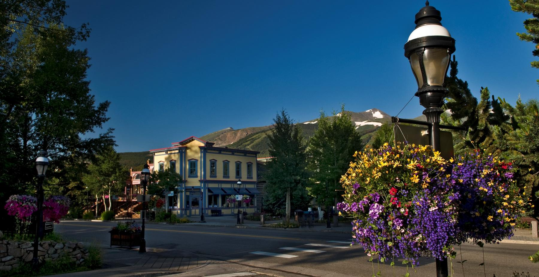 Breckenridge Main Street in the Summer