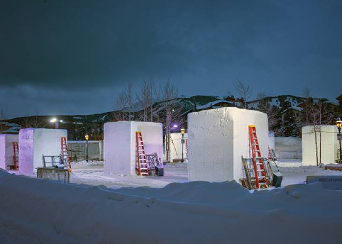 International Snow Sculptures in Breckenridge by Carl Scofield