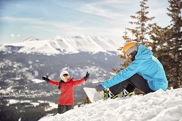Snowboarders at Breckenridge Ski Resort