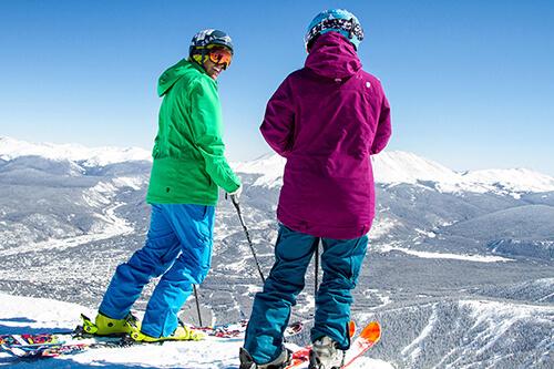 Skiers in Breckenridge